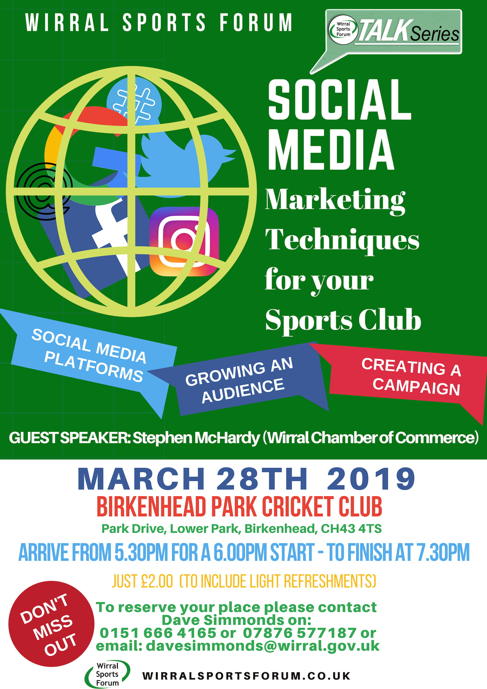 Talk Series – Social Media for Sports Clubs