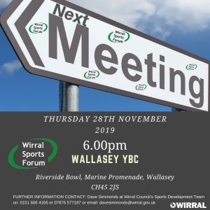 Next meeting of Wirral Sports Forum 28th November 2019