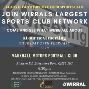 Next Wirral Sports Forum meeting – 27th February 2020