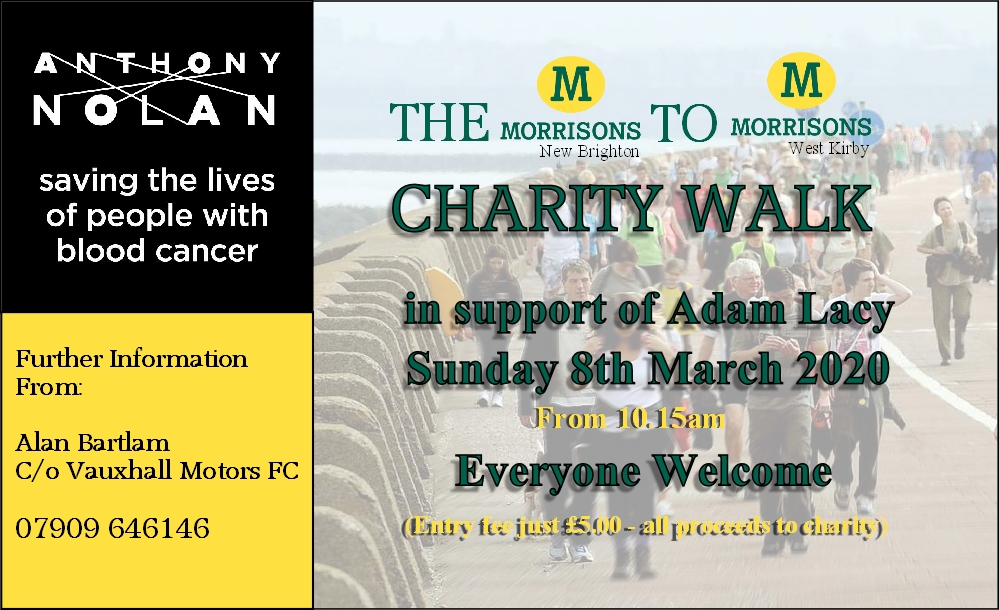 Please Support Charity Walk this March