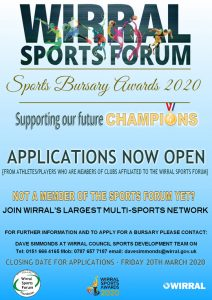 Wirral Sports Bursary Awards – Reminder
